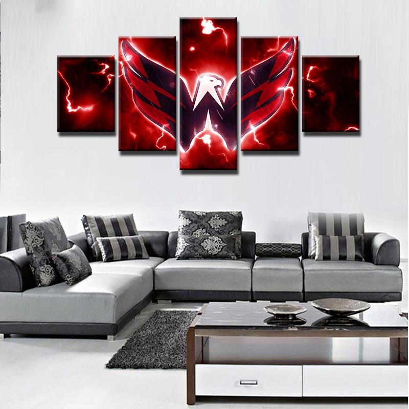 5 Piece Washington Capitals 4 Hockey Canvas Paintings - It Make Your Day