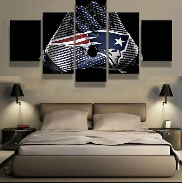 5 Piece New England Patriots Glove Canvas Paintings - It Make Your Day