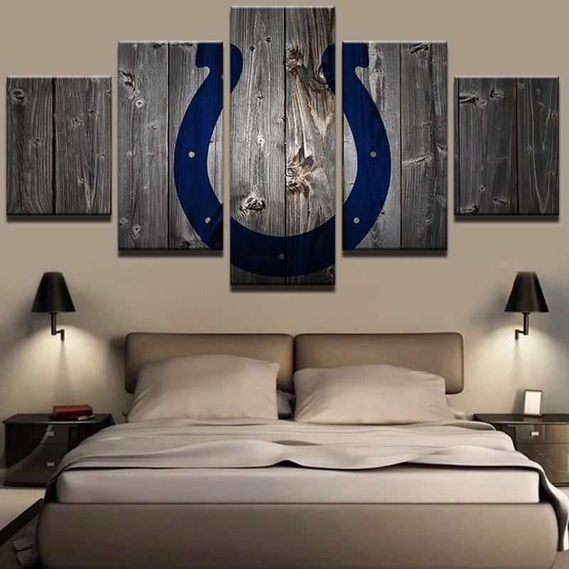 5 Piece Indianapolis Colts Football Art Canvas Paintings - It Make Your Day