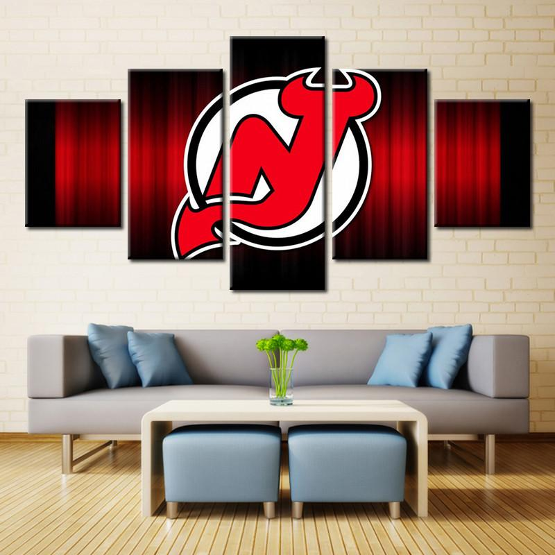 5 Piece New Jersey Devils 2 Hockey Canvas - It Make Your Day