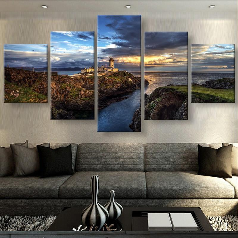 5 Piece Views Of Ireland Landscape Canvas Wall Art Paintings For ...