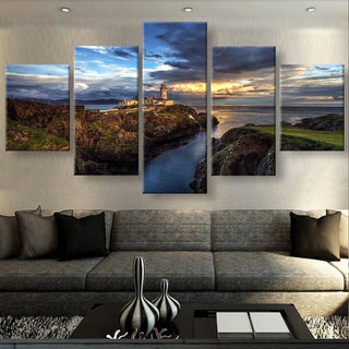 5 Piece Views Of Ireland Landscape Canvas Wall Art Paintings - It Make Your Day
