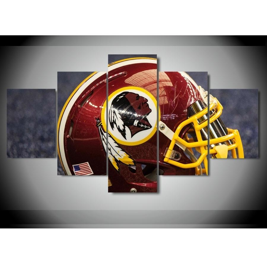 5 Piece Washington Redskins Helmet Rugby Canvas Wall Art - It Make Your Day