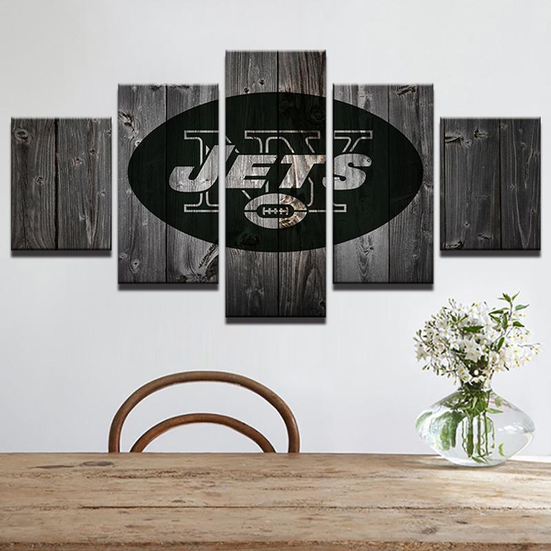 5 Piece New York Jets Football American Canvas Painting Wall Art - It Make Your Day