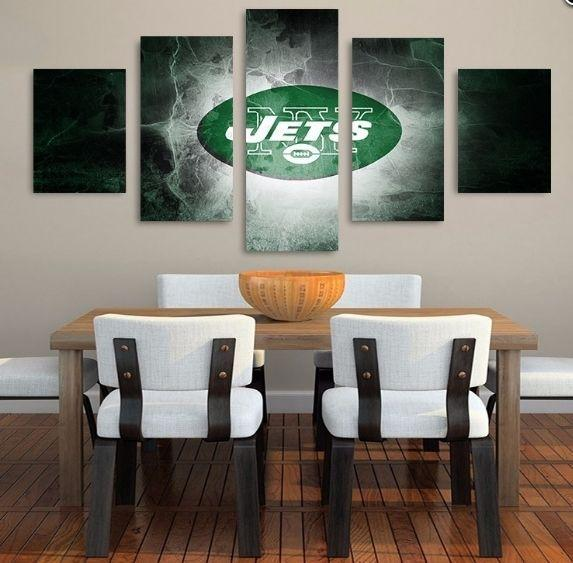 5 Piece New York Jets Art Canvas Paintings - It Make Your Day