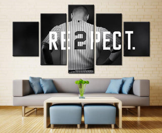 5 Piece New York Yankees Captain Baseball Canvas Painting Frames - It Make Your Day