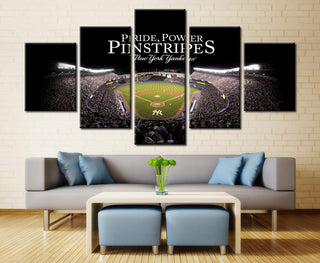 5 Piece New York Yankees Match Stadium Canvas Paintings - It Make Your Day