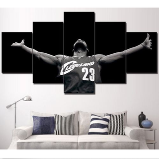 5 Piece Lebron James Cleveland Cavaliers Canvas Prints - It Make Your Day