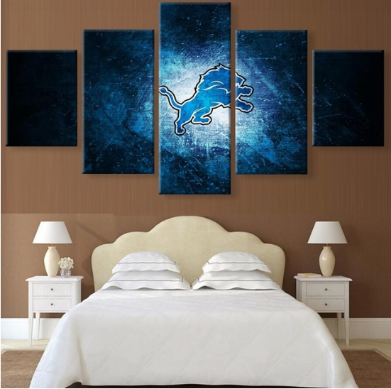 5 Piece Detroit Lions Poster Prints Canvas Paintings - It Make Your Day