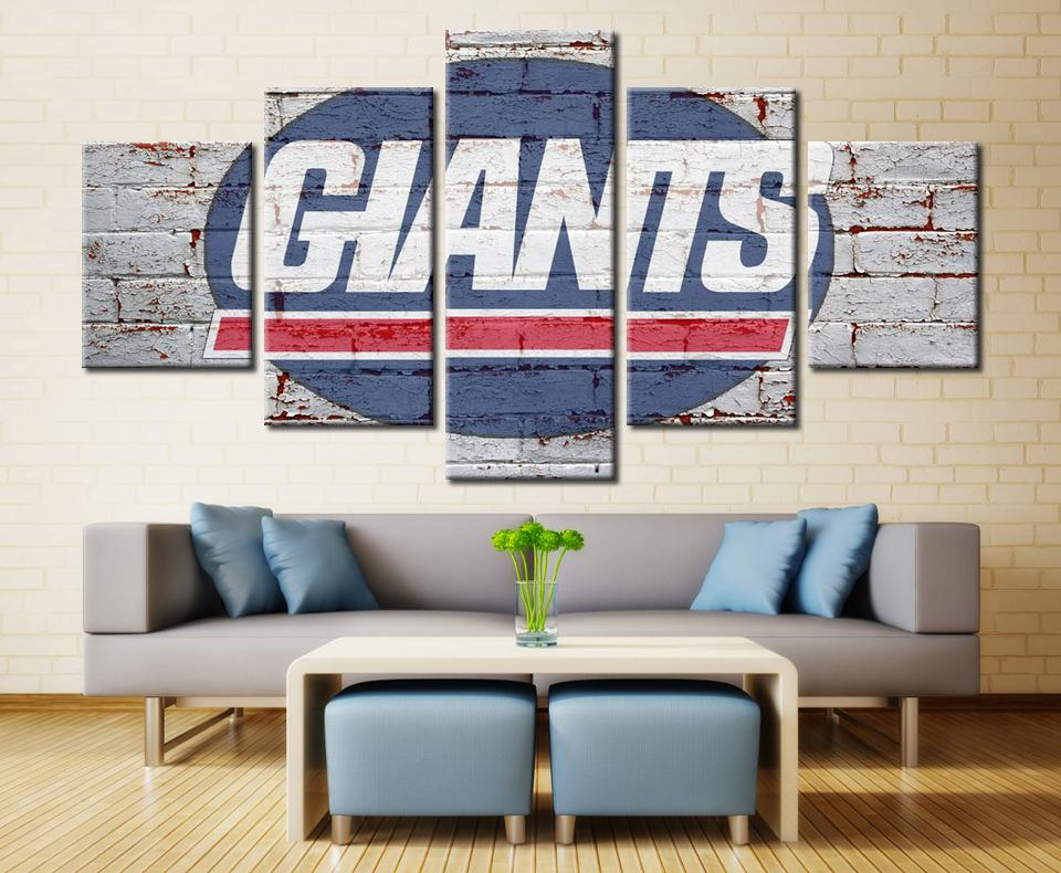 5 Piece New York Giants Poster Printed Canvas Paintings - It Make Your Day