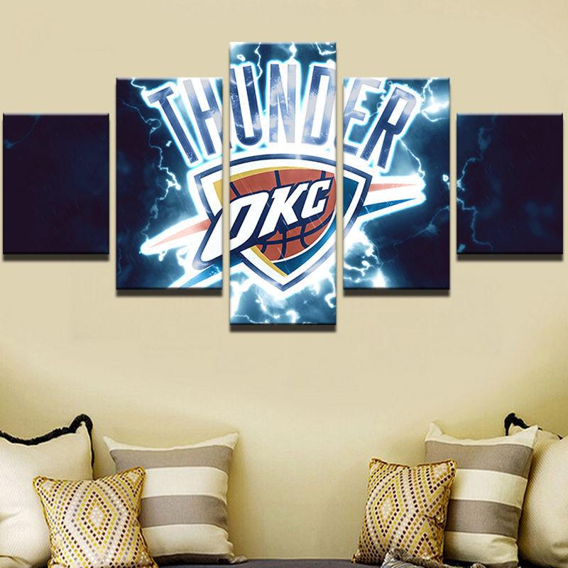 5 Piece Oklahoma City Thunder HD Printed Canvas Paintings - It Make Your Day