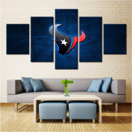 5 Piece Houston Texans Football Canvas Paintings - It Make Your Day