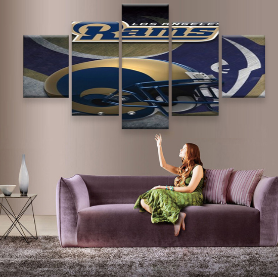 5 Piece Los Angeles Rams Wall Art Canvas Paintings - It Make Your Day