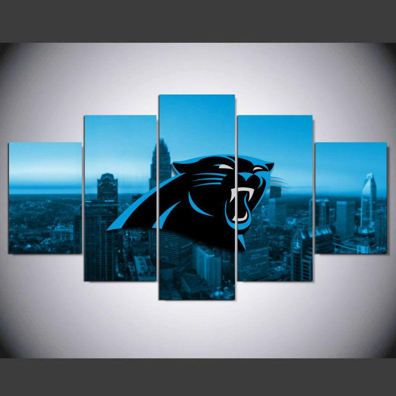 5 Piece Carolina Panthers Wall Art Canvas Paintings For Sale – It ...