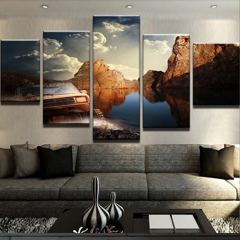 5 Piece Off Roading Bliss Car Canvas Wall Art Paintings - It Make Your Day