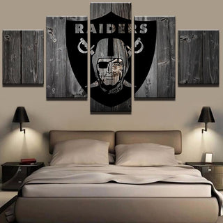 5 Piece Oakland Raiders American Football Canvas Painting Wall Art - It Make Your Day