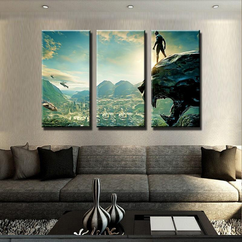 3 Piece Panther Scenic Movie Canvas Wall Art Paintings - It Make Your Day
