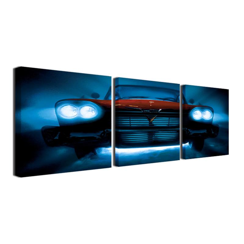 3 Piece 1955 Retro Vintage Chevy Car Canvas Wall Art Sets - It Make Your Day