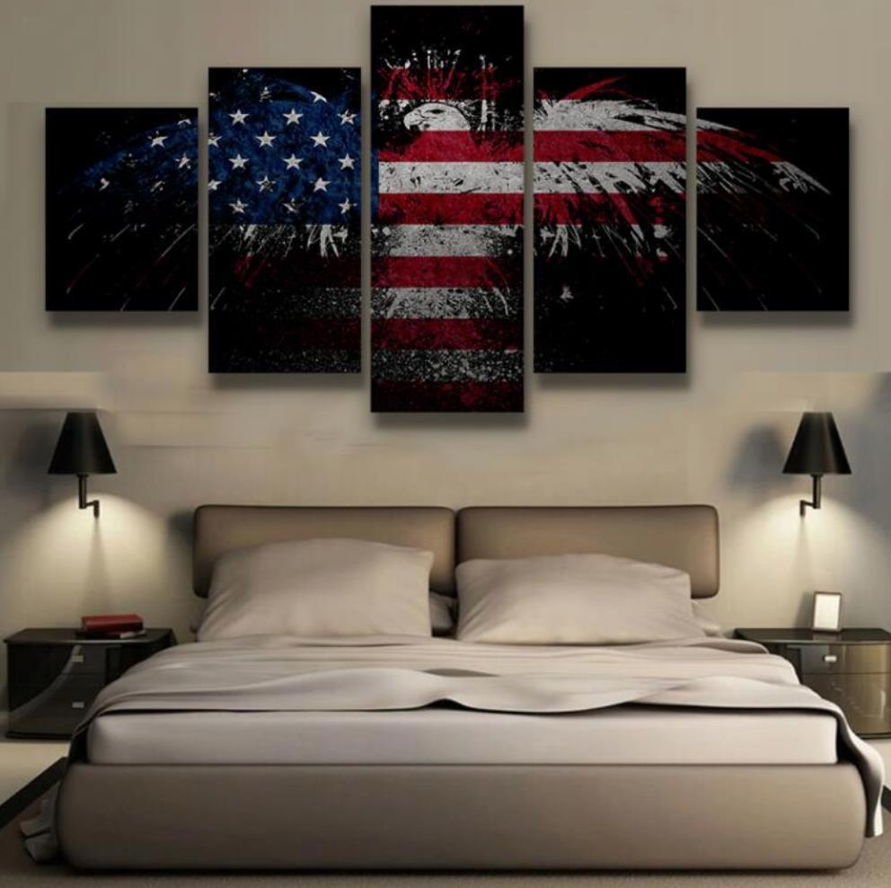 Patriotic Bald American Eagle Canvas Painting Wall Art - It Make Your Day