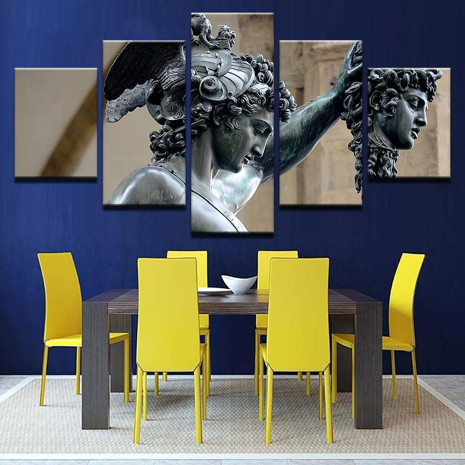 Framed 5 Piece Perseus - Medusa Slayer Canvas Paintings - It Make Your Day