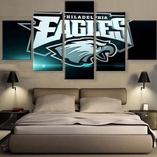 5 Pieces Philadelphia Eagles Fan Poster Canvas - It Make Your Day