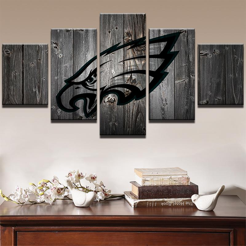 5 Pieces Philadelphia Eagles Football Canvas - It Make Your Day