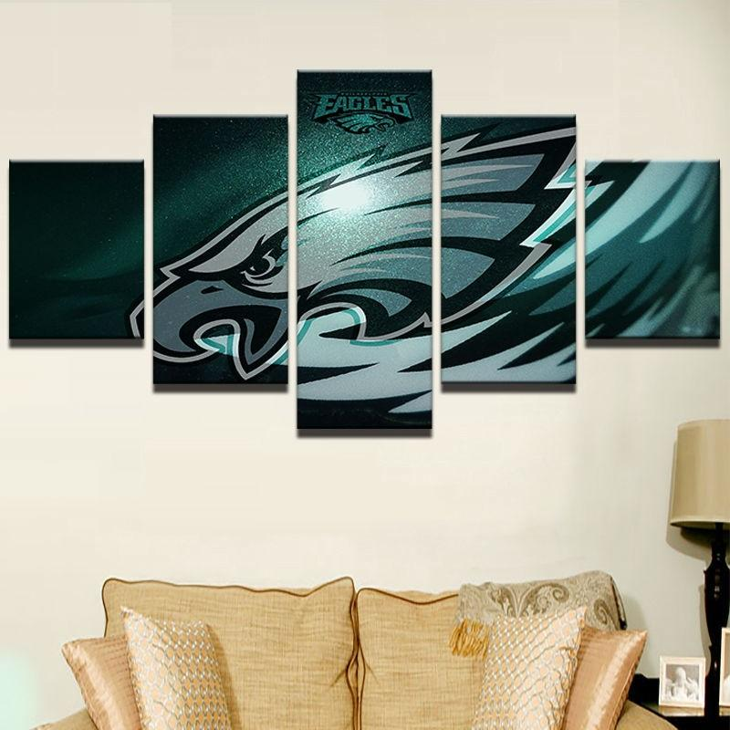 5 Pieces Philadelphia Eagles Mascot Rugby Canvas - It Make Your Day