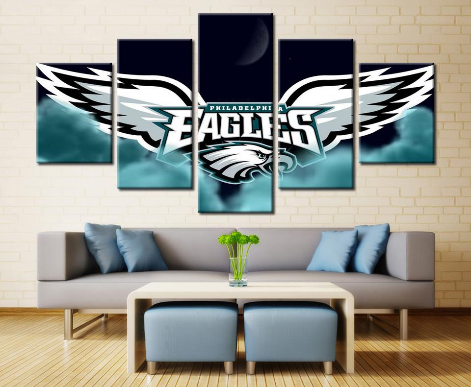 5 Pieces Philadelphia Eagles Wings Rugby Canvas - It Make Your Day