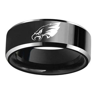 Men's Philadelphia Eagles Logo Stainless Steel Ring 316 Titanium - It Make Your Day