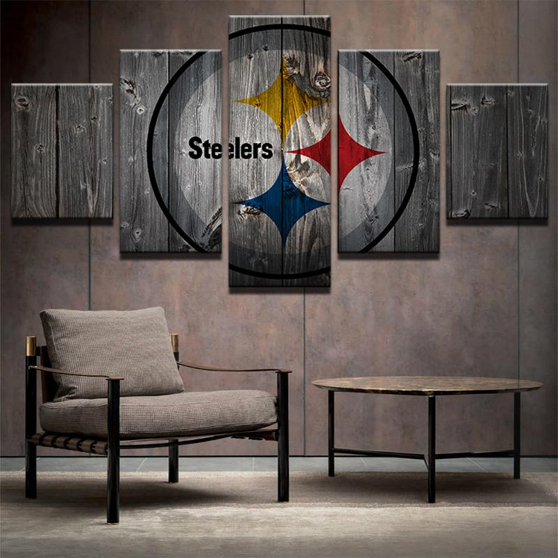 5 Piece Pittsburgh Steelers Football American Canvas Painting Wall Art - It Make Your Day
