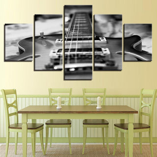 5 Piece Vintage Guitar Canvas Wall Art Paintings