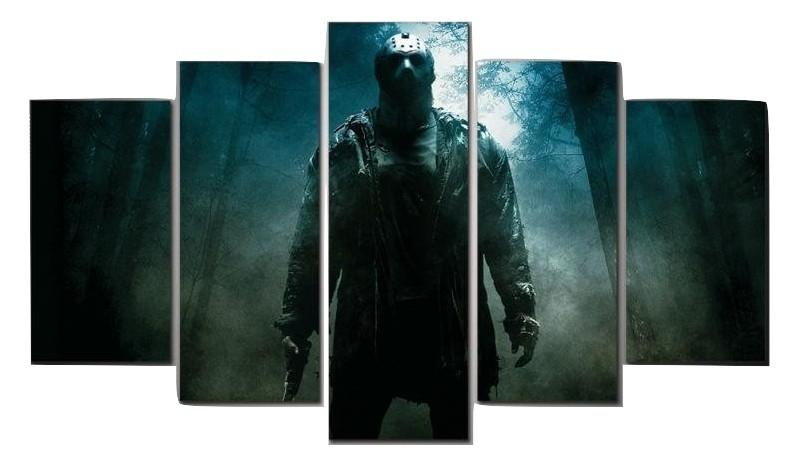 5 Piece Friday The 13th Viernes Canvas Wall Art Paintings - It Make Your Day