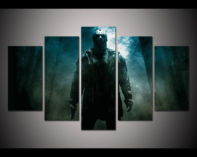 5 Piece Friday The 13th Viernes Canvas Paintings - It Make Your Day