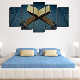 5 Piece Islamic Muslim Allah Quran Canvas Wall Art Paintings - It Make Your Day