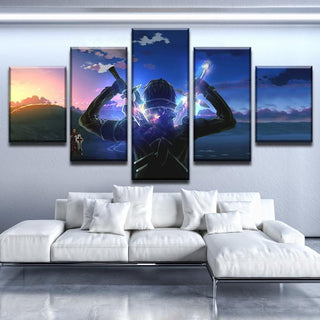 5 Piece Sao Kirito Canvas Wall Art Paintings