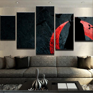 5 Piece Sharingan Moon Canvas Wall Art Paintings