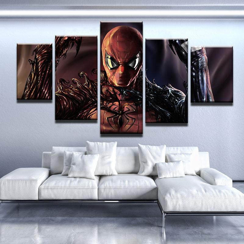 5 Piece Spiderman Torn Apart Movie Canvas Wall Art Paintings - It Make Your Day