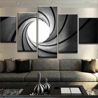 5 Piece Staring Down The Barrel Canvas Wall Art Paintings - It Make Your Day