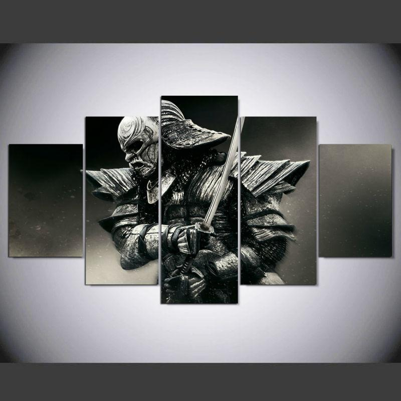 5 Piece Samurai Japan Canvas Wall Art Paintings For Sale – It Make ...