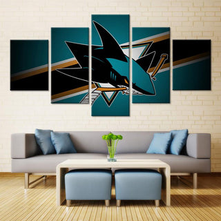 5 Piece San Jose Sharks 3 Hockey Canvas - It Make Your Day