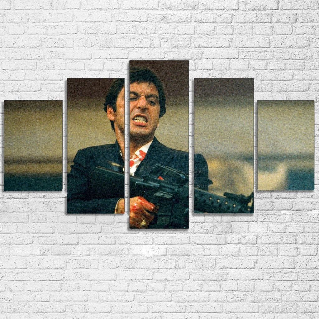 5 Piece Scarface Movie Canvas Painting Wall Art - It Make Your Day