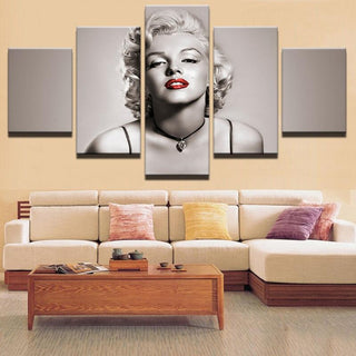 5 Pieces Marilyn Monroe Canvas Prints - It Make Your Day