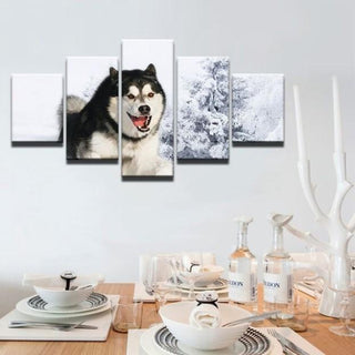 5 Pieces Siberian Husky Dog Canvas Prints - It Make Your Day