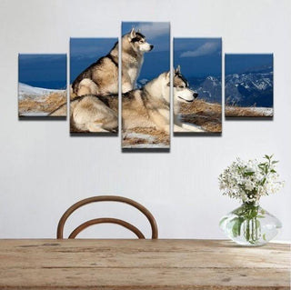 5 Pieces Siberian Husky Dog Canvas - It Make Your Day