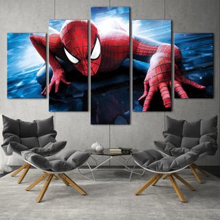 5 Panel Spiderman Marvel Canvas Wall Art Paintings Sets - It Make Your Day