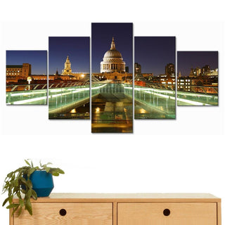 Framed 5 Piece St Paul's Cathedral Canvas - It Make Your Day