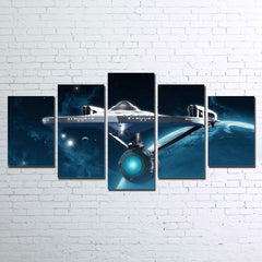 Framed 5 Piece Star Trek: Enterprise Canvas Wall Art Paintings - It Make Your Day