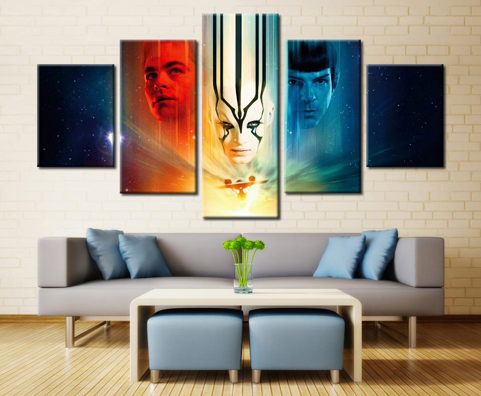 5 Piece Star Trek: Sem Fronteiras Movie Canvas Painting Wall Art - It Make Your Day