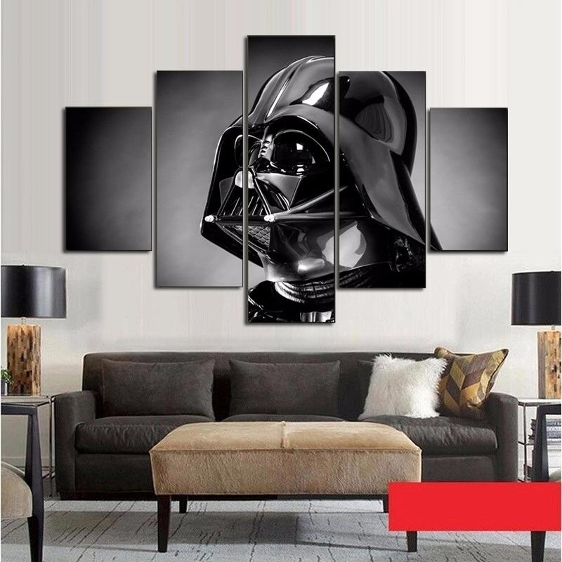 5 Piece Star Wars Character Movie Canvas Painting Wall Art - It Make Your Day