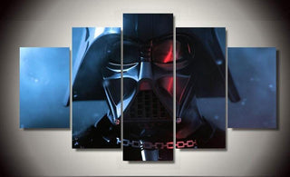 5 Piece Star Wars Darth Vader Movie Canvas Painting Wall Art - It Make Your Day